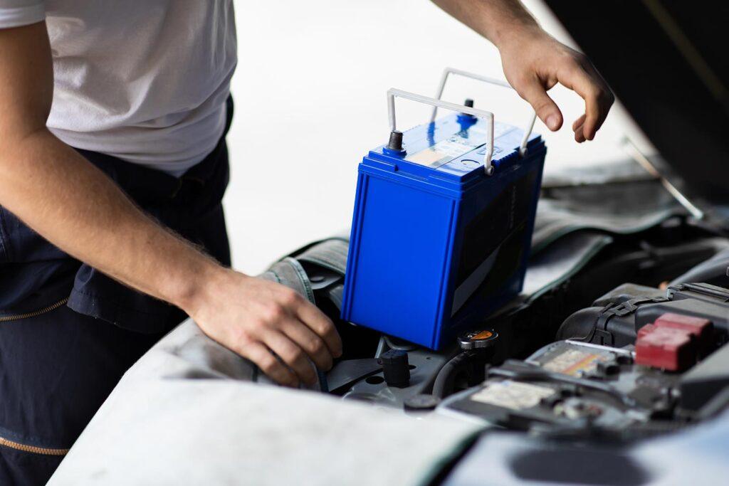 Dépannage batterie de voiture